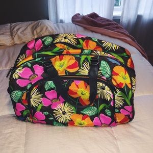 Vera Bradley rolling duffel (Lighten Up)